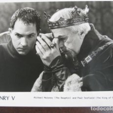 Cine: HENRY V - FOTO ORIGINAL B/N - MICHAEL MALONEY PAUL SCOFIELD - SHAKESPEARE. Lote 245453260