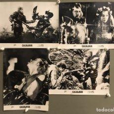 Cine: F31940 EXCALIBUR JOHN BOORMAN LOTE DE 4 FOTOS B/N ORIGINALES ESPAÑOLAS. Lote 248438535