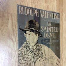 Cine: CRISTAL ESPEJO CARTEL DE CINE RUDOLPH VALENTINO PARAMOUNT PICTURE. Lote 249284905