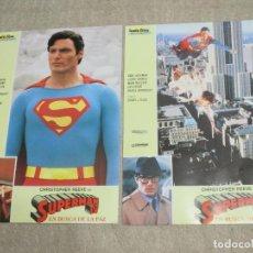 Cine: SUPERMAN IV EN BUSCA DE LA PAZ, CHRISTOPHER REEVE, GENE HACKMAN, 12 FOTOCROMOS LOBBY CARDS. Lote 274003673