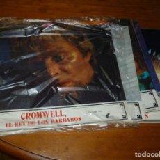 Cine: CROMWELL. EL REY DE LOS BARBAROS - LOTE 12 FOTOCROMOS ORIGINALES. Lote 251075585