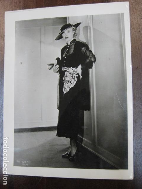 FILM ACTRESS - FOTO ORIGINAL B/N - HAT SOMBRERO (Cine - Fotos, Fotocromos y Postales de Películas)