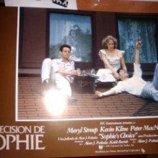 Cine: LA DECISION DE SOPHIE-SET COMPLETO ORIGINAL ESTRENO 12 UNIDADES-MERYL STREEP-KEVIN KLINE-. Lote 254271020