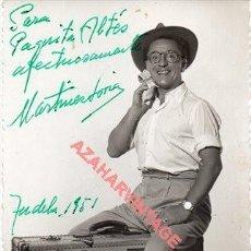 Cine: TUDELA, 1951, FOTOGRAFIA ORIGINAL AUTOGRAFIADA DE PACO MARTINEZ SORIA, 9X14 CMS. Lote 257513455