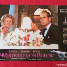 Cine: 12 FOTOCROMOS. EL MISTERIO VON BULOW. BARBET SCHROEDER, 1990. JEREMY IRONS, GLENN CLOSE. Lote 260861550