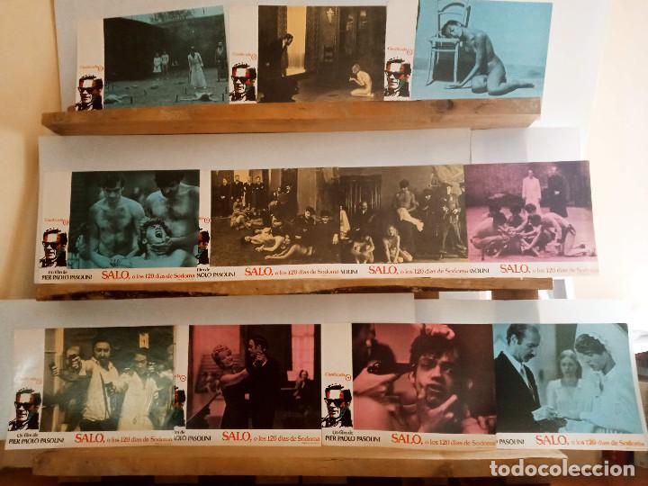 SALÓ, O LOS 120 DÍAS DE SODOMA. PIER PAOLO PASOLINI PAOLO BONACELLI. 11 FOTOCROMOS ORIGINALES (Cine - Fotos, Fotocromos y Postales de Películas)