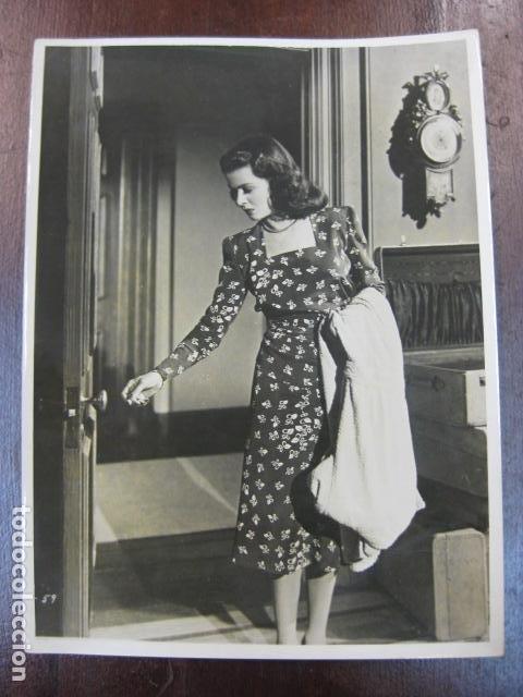 JOAN BENNETT - FOTO ORIGINAL B/N - AMERICAN ACTRESS (Cine - Fotos, Fotocromos y Postales de Películas)