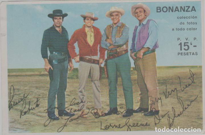 LOTE A-FICHA POSTAL A DOS CARAS CINE AÑOS 60 BONANZA TELEVISION (Cine - Fotos, Fotocromos y Postales de Películas)