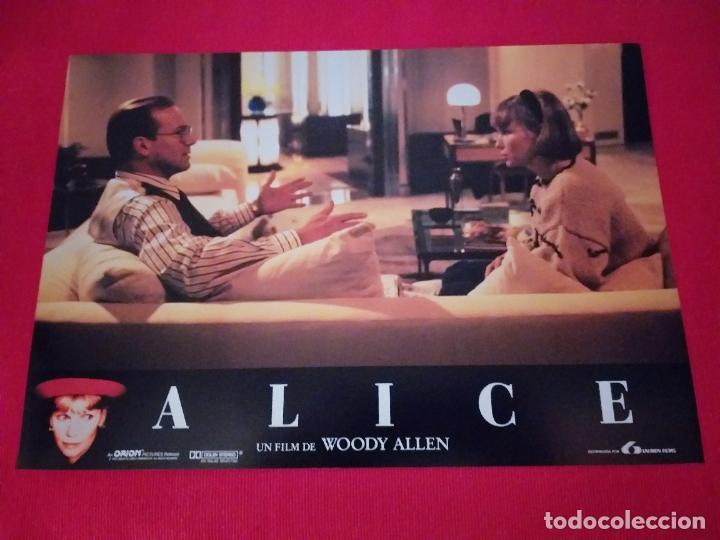 12 FOTOCROMOS: ALICE. WOODY ALLEN. 1990. MIA FARROW, WILLIAM HURT, ALEC BALDWIN (Cine - Fotos, Fotocromos y Postales de Películas)