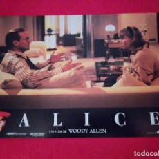 Cine: 12 FOTOCROMOS: ALICE. WOODY ALLEN. 1990. MIA FARROW, WILLIAM HURT, ALEC BALDWIN. Lote 262912880
