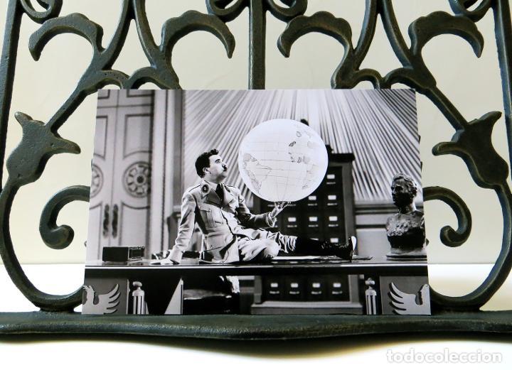 Cine: Postal de la película El Gran Dictador, de Charles Chaplin. Tema: Cine, Charlot, The Great Dictator. - Foto 3 - 262920870