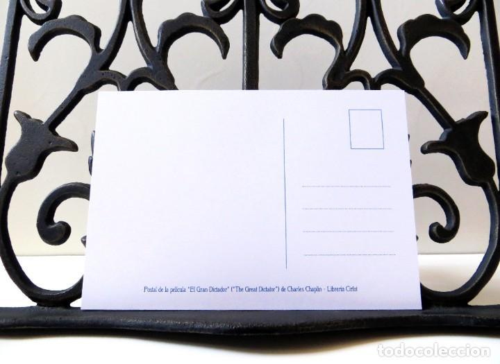 Cine: Postal de la película El Gran Dictador, de Charles Chaplin. Tema: Cine, Charlot, The Great Dictator. - Foto 4 - 262920870