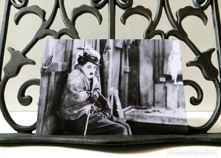 Cine: Postal de la película La Quimera del Oro, de Charles Chaplin. Tema: Cine, Charlot, The Gold Rush. - Foto 3 - 263050460