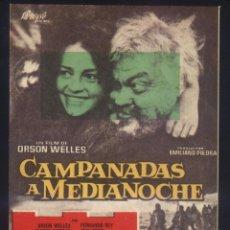 Cine: P-9430- CAMPANADAS A MEDIANOCHE (FALSTAFF - CHIMES AT MIDNIGHT) (FICHA PELÍCULA) ORSON WELLES. Lote 263143950