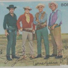 Cine: LOTE A-FICHA POSTAL A DOS CARAS CINE AÑOS 60 BONANZA TELEVISION. Lote 263712680