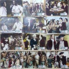 Cinema: REBELION A BORDO - CHARLES LAUGTHON, CLARK GABLE, FRANCHOT TONE - 12 FOTOCROMOS DE CARTON, AÑO 1970. Lote 264020220