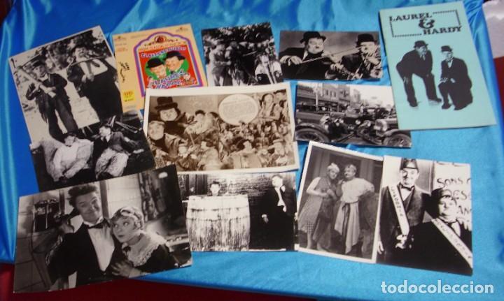 EL GORDO Y EL FLACO EXCELENTE LOTE DE 12 ARTICULOS FOTOS ETC-IMPORTANTE LEER DESCRIPCIO (Cine - Fotos y Postales de Actores y Actrices)