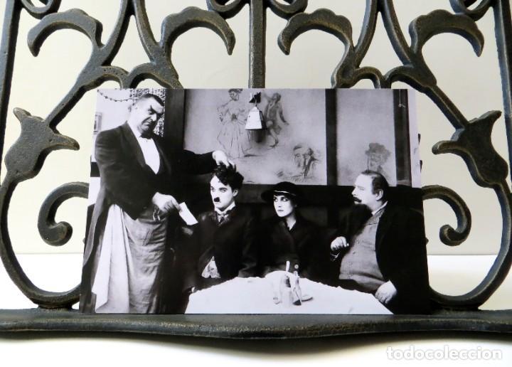 Cine: Postal de la película El Inmigrante, de Charles Chaplin. Tema: Cine, Charlot, The Immigrant. - Foto 3 - 263050430