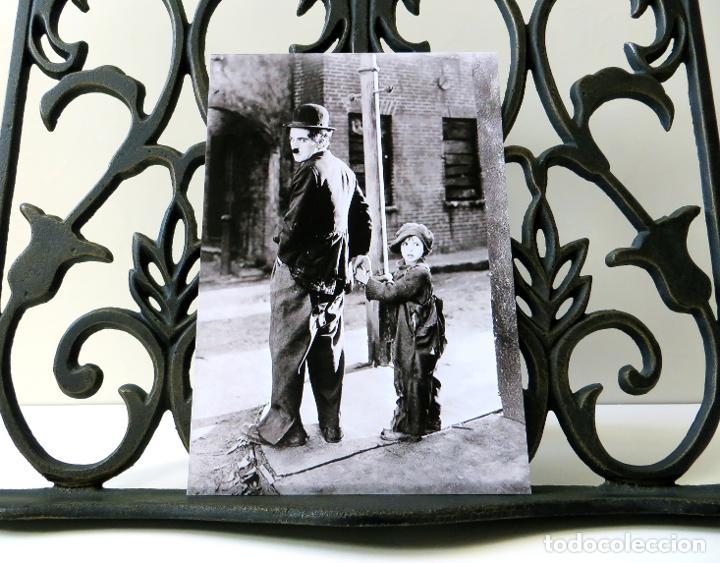 Cine: Postal de la película El Chico, de Charles Chaplin. Tema: Cine, Charlot, The Kid. - Foto 3 - 262920900