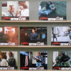 Cinéma: XU14D ESTAN VIVOS JOHN CARPENTER SET COMPLETO 8 FOTOCROMOS ORIGINAL ESTRENO. Lote 265333129