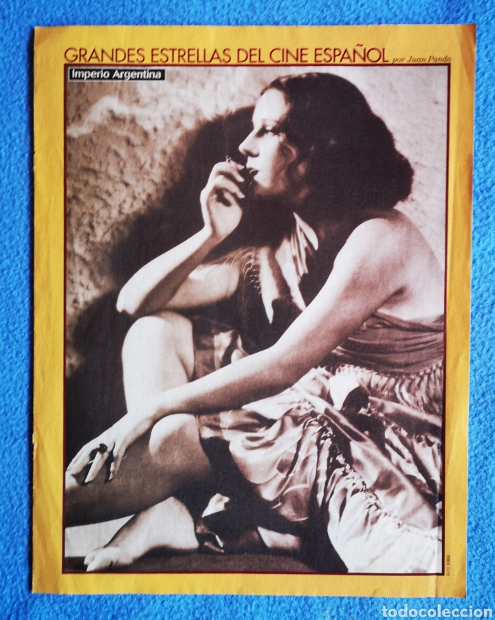 IMPERIO ARGENTINA - JAVIER BARDEM - FOTO Y FICHA DE LOS ACTORES (Cine - Fotos y Postales de Actores y Actrices)