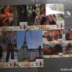 Cine: ABC01 UN INDIO EN PARIS THIERRY LHERMITTE SET COMPLETO DE 8 FOTOCROMOS ORIGINAL ESTRENO. Lote 268727424