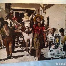 Cinema: FOTOCROMO DE CARTÓN CANCIÓN DE JUVENTUD. ROCÍO DURCAL.23 X 28 CMS.. Lote 268998634