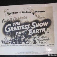 Cine: CIRCO-THE GREATEST SHOW ON EARTH-CECIL B. DE MILLE'S-PROGRAMA FOTOGRAFIA-VER FOTOS-(V-22.804). Lote 269141148