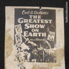 Cine: CIRCO-THE GREATEST SHOW ON EARTH-CECIL B. DE MILLE'S-PROGRAMA FOTOGRAFIA-VER FOTOS-(V-22.806). Lote 269141578
