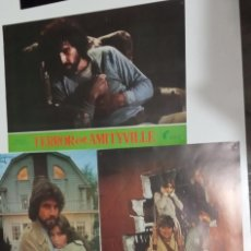 Cine: AMITYVILLE.JAMES BROLIN TERROR EN AMITYVILLE ROSEMBERG LOBBY CARDS 12 FOTOCROMOS 1979. Lote 273651638