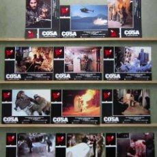 Cine: SCDO 191 LA COSA JOHN CARPENTER KURT RUSSELL SET COMPLETO 12 FOTOCROMOS ORIGINAL ESTRENO. Lote 277071853
