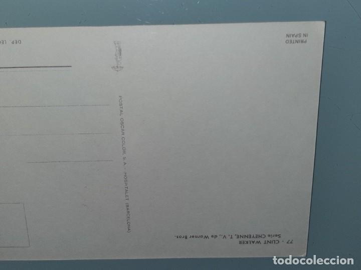 Cine: ANTIGUA POSTAL Nº 77 DEL ACTOR CLINT WALKER SERIE CHEYENNE POSTAL OSCARCOLOR BERGAS AÑOS 60 - Foto 6 - 277638008
