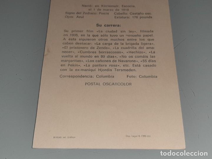 Cine: ANTIGUA POSTAL FICHA Nº 33 DEL ACTOR DAVID NIVEN POSTAL OSCARCOLOR BERGAS AÑOS 60 - Foto 7 - 277638328