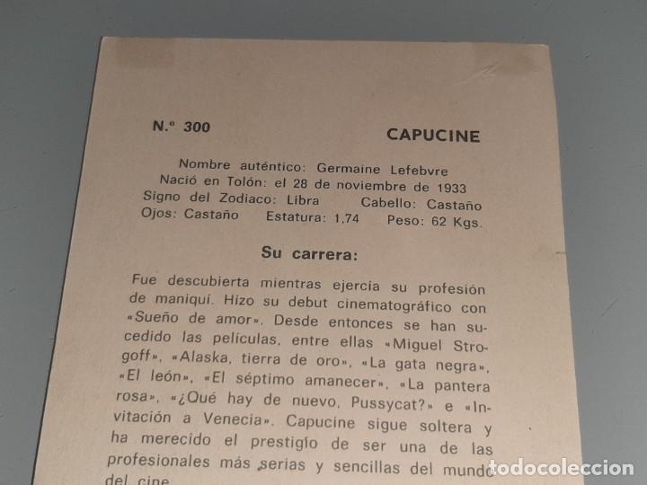 Cine: ANTIGUA POSTAL FICHA Nº 300 DE LA ACTRIZ CAPUCINE POSTAL OSCARCOLOR BERGAS AÑOS 60 - Foto 7 - 277640178
