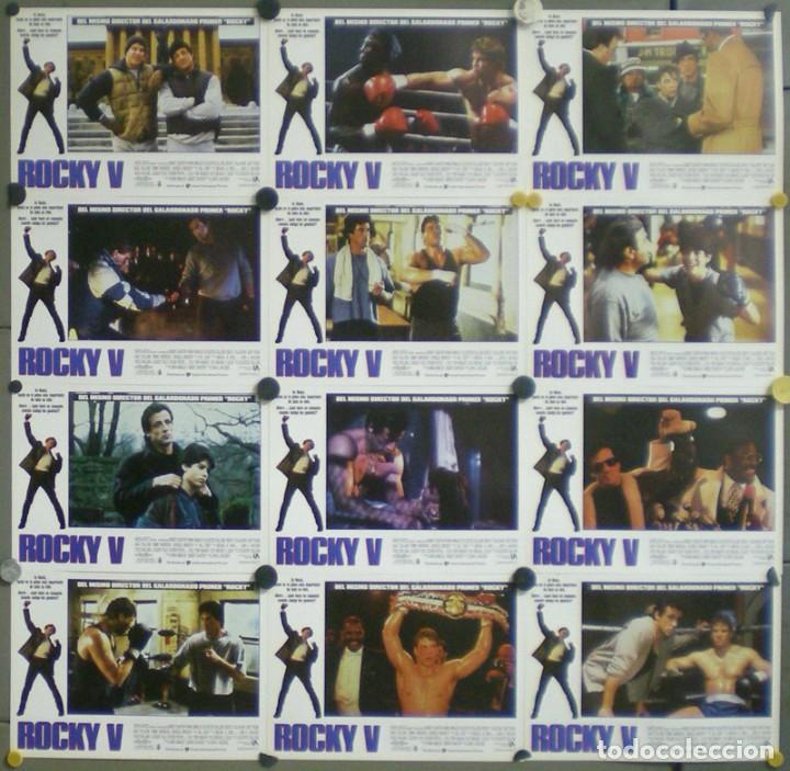 2UY62D ROCKY 5 SYLVESTER STALLONE BOXEO SET 12 FOTOCROMOS ORIGINAL ESTRENO (Cine - Fotos, Fotocromos y Postales de Películas)