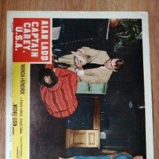 Cine: LOBBY CARD AMERICANO ORIGINAL CAPTAIN CAREY, USA, ALAN LADD, WANDA HENDRIX. Lote 279412408