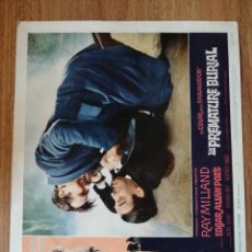 Cine: LOBBY CARD AMERICANO ORIGINAL THE PREMATURE BURIAL, RAY MILLAND. Lote 279412648