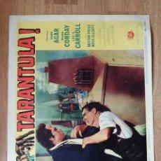 Cine: LOBBY CARD AMERICANO ORIGINAL TARANTULA!, JOHN AGAR, MARA CORDAY, LEO CARROLL. Lote 279414523