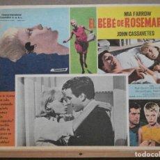 Cine: ABJ56 LA SEMILLA DEL DIABLO MIA FARROW CASSAVETES POLANSKI LOBBY CARD ORIGINAL MEJICANO. Lote 286816138