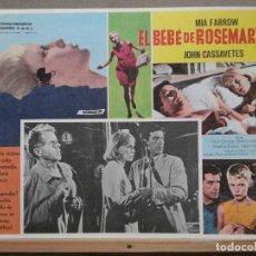 Cine: ABJ57 LA SEMILLA DEL DIABLO MIA FARROW CASSAVETES POLANSKI LOBBY CARD ORIGINAL MEJICANO. Lote 286816303