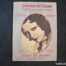 Cine: CAMINO DEL INFIERNO-JUAN TORENA Y MARIA ALBA-ESTAMPAS DEL CINEMA-VER FOTOS-(K-4102). Lote 287367173
