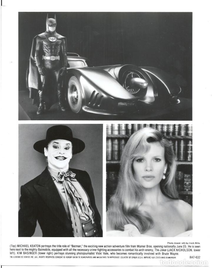 F31983 KIM BASINGER JACK NICHOLSON MICHAEL KEATON BATMAN TIM BURTON B/N ORIGINAL AMERICANA (Cine - Fotos y Postales de Actores y Actrices)