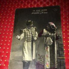 Cine: SRTA. GUILLEN Y SR. ORTIZ - ( LA VIUDA ALEGRE ) - FOTO/POSTAL CON MÁS DE 110 AÑOS DE ANTIGUEDAD. Lote 288137923