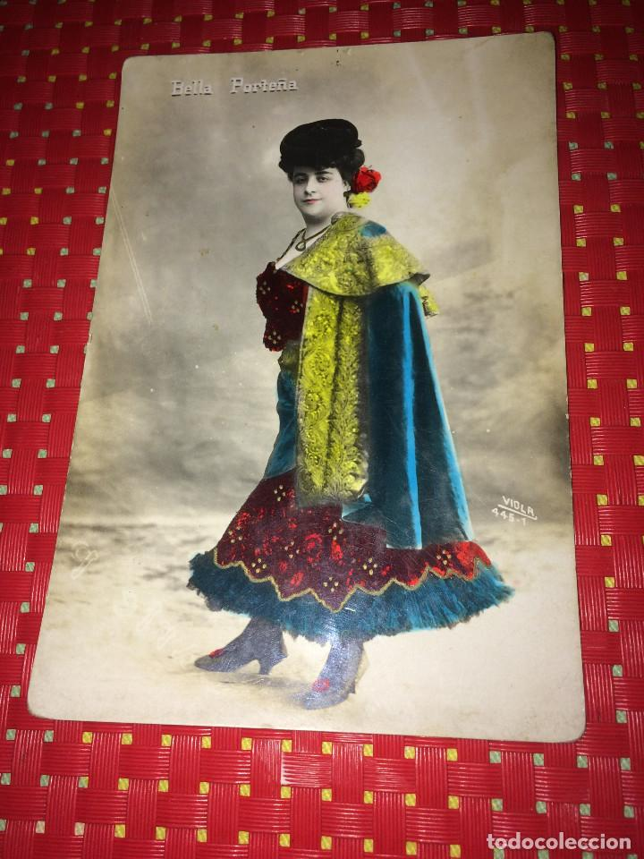BELLA PORTEÑA - FOTO/POSTAL CON MÁS DE 110 AÑOS DE ANTIGUEDAD (Cine - Fotos y Postales de Actores y Actrices)
