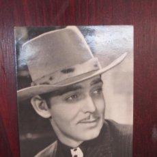 Cinema: CLARK GABLE - POSTAL ORIGINAL B/N - HOLLYWWOD ACTOR - COWBOY HAT. Lote 289247078