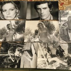 Cine: COARTADA EN DISCO ROJO GEORGE HILTON ANITA STRINDBERG COLECCION 7 FOTOS ORIGINALES DEL ESTRENO. Lote 289689078