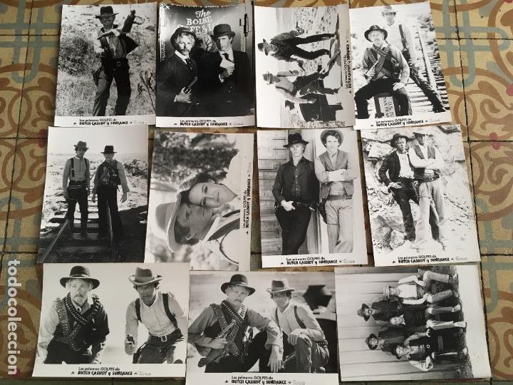 LOS PRIMEROS GOLPES DE BUTCH CASSIDY Y SUNDANCE COLECCION 11 FOTOS ORIGINALES DEL ESTRENO (Cine - Fotos, Fotocromos y Postales de Películas)