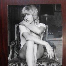 Cine: NATHALIE DELON - FOTO ORIGINAL B/N PRENSA - AÑOS 70' - FRENCH ACTRESS. Lote 289869708