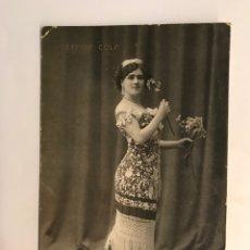 Cine: JOSEFINA COLA, POSTAL ARTISTA ESPAÑOLA…. EDIC., R. GUILLERMINOT, PARIS (A.1929) CÍRCULADA …. Lote 289911963