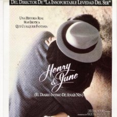 HENRY & JUNE, GUIA ORIGINAL DOBLE, OFERTA